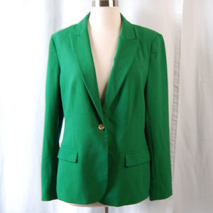 {Vince Camuto} Green Classic One Button Blazer 12